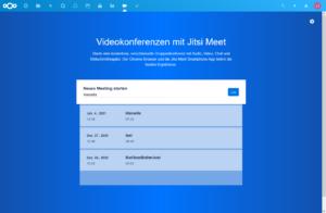 Jitsi Meet Startseite